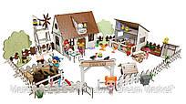 """Кукольный Домик для кукол ЛОЛ LOL """"Сельский + ферма"""" с мебелью, текстилем и светом 30х19х26 см (2203)"""