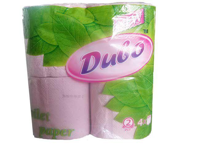 Туалетная бумага макулатурная розовая Диво (4шт/пач)