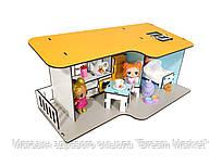 """Кукольный Домик для кукол ЛОЛ LOL """"Пляжный мини"""" с мебелью, кухней, спальней и текстилем 40х20х18 см (2401)"""