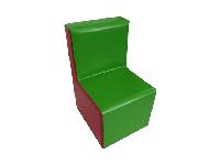 Мягкая игровая модульная мебель детская разноцветная из ПВХ для квартиры, дома или дачи Стул 50х30х25 см