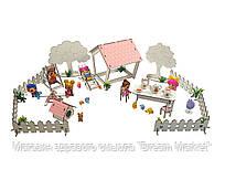 """Кукольная мебель для кукол до 20 см в кукольный домик - игровой набор """"Дворик с беседкой и забором"""" (1110)"""