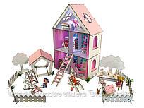 """Кукольный Домик для кукол ЛОЛ LOL + дворик с мебелью, текстилем и обоями """"LITTLE FUN maxi"""" 40х20х62 см (2112)"""