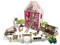 """Кукольный Домик для кукол ЛОЛ LOL + ферма с мебелью, текстилем, обоями """"LITTLE FUN maxi"""" 40х20х62 см (2124)"""