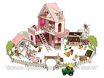 """Кукольный Домик для кукол ЛОЛ LOL """"Солнечная Дача Дворик с беседкой Ферма"""" мебель, текстиль 40х40х62 см (2127)"""