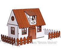 """Кукольный Домик для кукол ЛОЛ LOL """"Сельский"""" с мебелью, текстилем, освещением, заборчиком 30х19х26 см (2201)"""