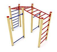 Оборудование для спортивных уличных площадок спортивный комплекс для детей от 12 лет Малыш 340х280х210 см