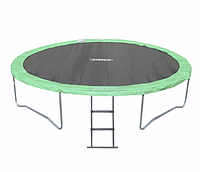 Спортивно-Игровой Водостойкий Батут с лестницей для детей и взрослых до 180 кг для дома или улицы 457х88 см