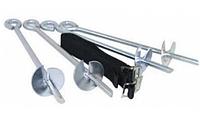 Крепление Спортивно-Игровое - Универсальный анкер для крепления батута, размер 30.5х0.1 см с черной веревкой
