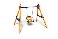 Детская игровая одноместная Качель Гордость для использования на открытых площадках до 80 кг 200х160х220 см