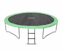 Спортивно-игровой водостойкий батут с лестницей для детей и взрослых до 180 кг для дома и улицы 426х88 см