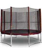 Защитная сетка с дверью бордовая для безопасности детей и взрослых для эксклюзивного батута MAROON 304 см