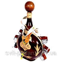 Набор подарочный мини-бар бутылка элитный штоф с рюмками 136-VA