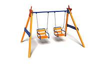 Детская игровая двухместная Качель Близняшки для использования на открытых площадках до 80 кг 315х160х220 см