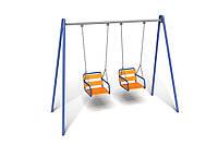 Детская игровая двухместная Качель Твист для использования на открытых площадках до 80 кг 305х130х230 см