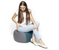 Мягкое кресло-мешок с наполнением шариками для отдыха и работы для дома и дачи с ручкой Пуфик 50х50х30см