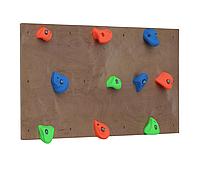 Детская развивающая траверсная стена из двух пластин с десятью крупными зацепами «Шаги» до 100 кг 125х50 см