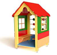 Дитячий спортивний ігровий водостійкий комплекс з кубиками для ігор на відкритому повітрі Будиночок 150х150х204 см