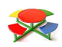 Детский игровой Столик с сиденьями для игр и занятий на открытом воздухе, рассчитан на 8 человек 150х150х102см