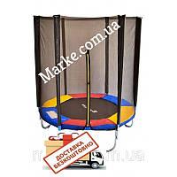 Батут JUST FUN MULTICOLOR 183см (6ft) диаметр с внешней сеткой спортивный для детей и взрослых, фото 1