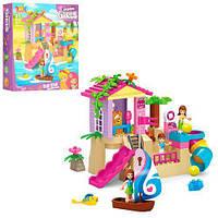 Детский Развивающий Игровой Конструктор для малышей Аквапарк 58 крупных деталей JDLT арт. 5415*