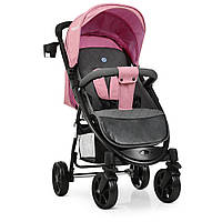 Детская Прогулочная Коляска El Camino Favorit, 3 положения спинки, корзина, 90x105х54 см, Pale Pink арт. 3409
