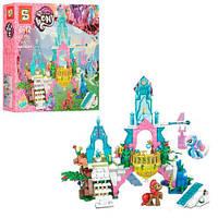 Детский Развивающий Конструктор для девочек My Little Pony Хрустальный замок пони, 359 деталей арт. 1096