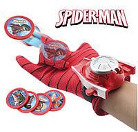 Перчатка - оружие Человека-паука с вылетающими дисками - Spider-Man glove