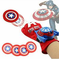 Перчатка - оружие Капитана Америки с вылетающими дисками - Captain America glove