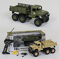 Детская Игрушечная Машинка для мальчиков Военный грузовик на радиоуправлении, свет фар, аккумулятор арт. 1002