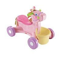 Детская Игровая Каталка Толокар для девочек Мой первый пони, звуковые эффекты, мягкая кукла Fisher Price