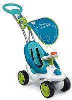 Детская Регулируемая Музыкальная Каталка-Трансформер, съемное сиденье, Bubble Go Neo голубая Smoby Смоби