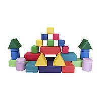 Игровой Мягкий модульный Конструктор Замок Мини из 25 геометрических фигур для детей от 1 года разборный