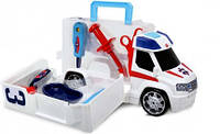 Игрушка Детская Для Мальчиков Машинка Скорая Помощь с инструментами белая раскладывающая 33 см Dickie Toys