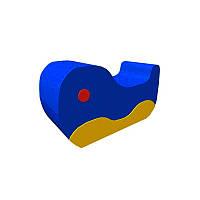 Мягкая игровая фигурка-качалка для ребенка от 1,5 до 4 лет с рисунком для квартиры или садика Кит 100х55х30 см