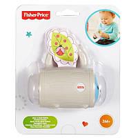 Детская Развивающая Погремушка для малышей Прятки с мишкой с текстильным листочком 9х9х5 см белая Fisher Price