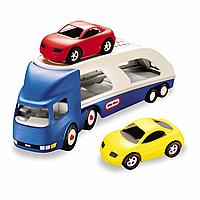 Детская Развивающая Игрушка Для Мальчиков Машинка Автопогрузчик с двумя машинками Little Tikes 72x18x25 см