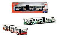 Детская Игровая Машинка Для Мальчиков Автобус-гармошка City Express 40 см из пластмассы с фигуркой Dickie Toys