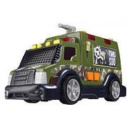 Детская Игрушка Для Мальчиков Машинка Военная с водяной помпой зеленая 42см со звуковыми эффектами Dickie Toys