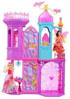 Детский игровой набор для девочки 2-х этажный Волшебный замок Принцессы с мебелью Barbie Mattel Маттел Барби