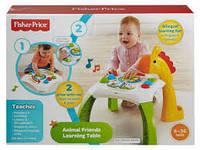 Детский Игровой Развивающий Обучающий Разборный Столик Жираф с 3 мячиками и съемными ножками Fisher Price