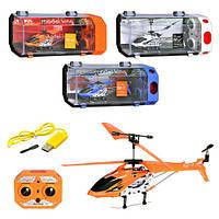 Детская игрушка для мальчиков Вертолет на радиоуправлении с гироскопом, запасные лопасти, ЧЕРНЫЙ арт. 33008