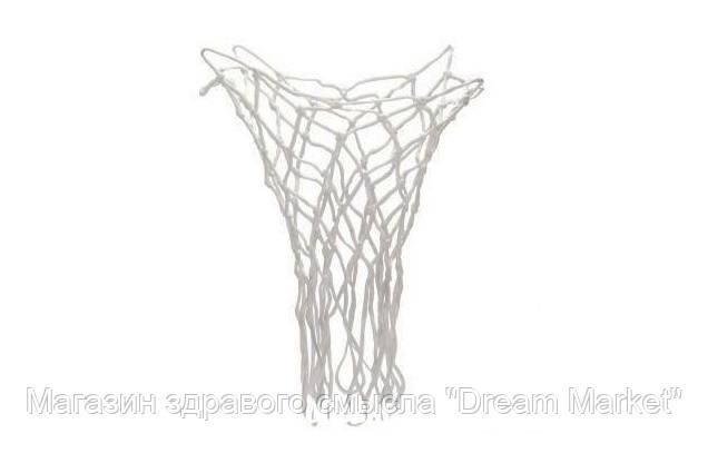 Элемент спортивно-игрового оборудования сетка по стандартам FIBA баскетбольная морозостойкая белая Антимороз