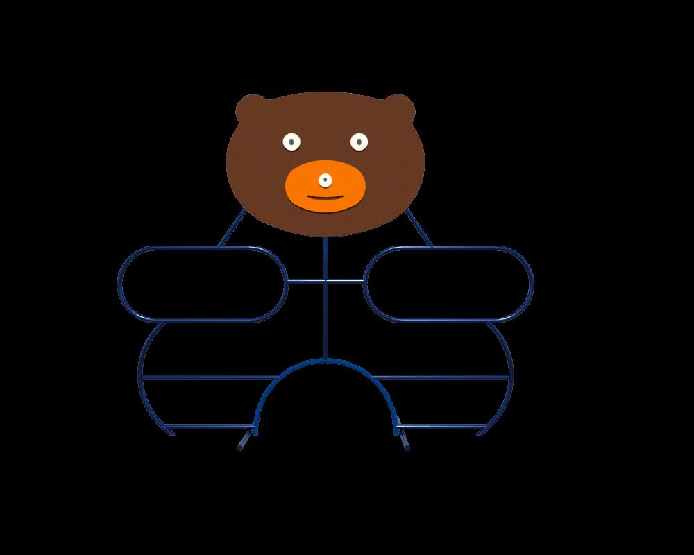 Детский спортивный игровой комплекс для игр на  открытом воздухе лазалка Медвежонок с мордочкой 210х62х175 см