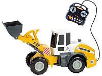 Игрушка Детская Для Мальчика Погрузчик Либхер на дистанционном управлении 40 см желтый звуковой Dickie Toys