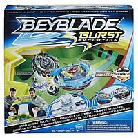 Игровой набор детских волчков Арена и волчок от Hasbro Beyblade Burst Evolution Star Storm Battle Set Бейблейд