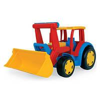 Игрушка Детская Для Мальчика Машинка Трактор Гигант c Ковшом до 100 кг разноцветный из пластика Wader Вадер