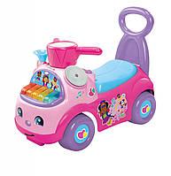 Детская Игровая Машинка-каталка со звуковыми эффектами розовая для девочек с пианино Fisher Price 53х26х33 см