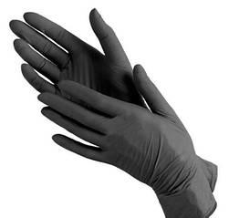 Рукавички нітрилові Medicom XL неопудрені текстуровані 50 пар Чорні (MAS40035)
