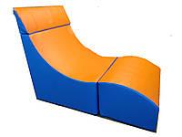 Мягкое складное кресло для детей и взрослых со съемных чехлом для квартиры, офиса Трансформер 119х60х81 см