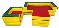 М'який ігровий модульний комплект меблів-трансформер для дітей від 1 року з матами для квартири, дачі Мати, фото 1